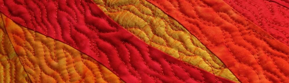 Patchwork-Impressionen-rot - Silke Liersch