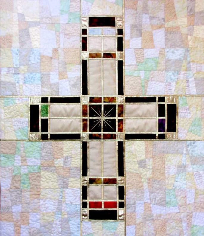 Parament Kreuz weiß
