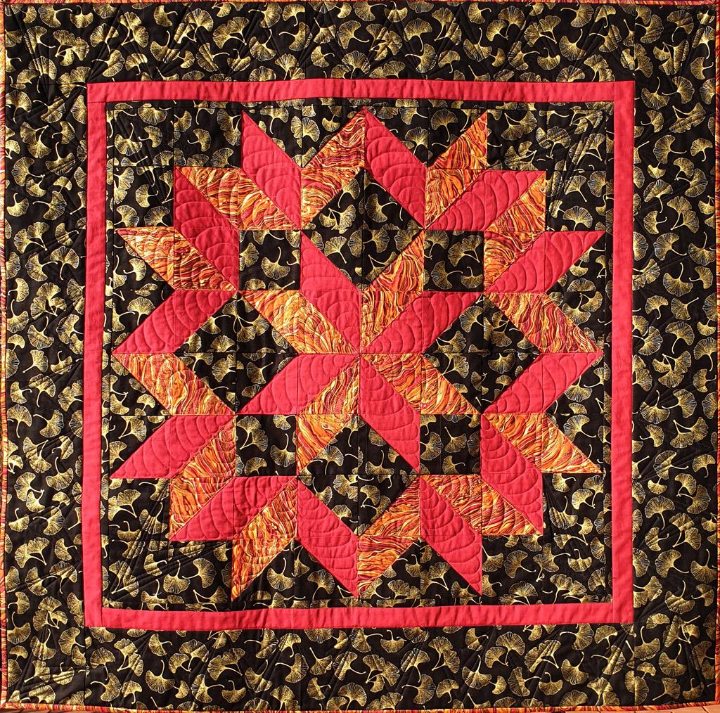Quadrate und Dreiecke Quilt
